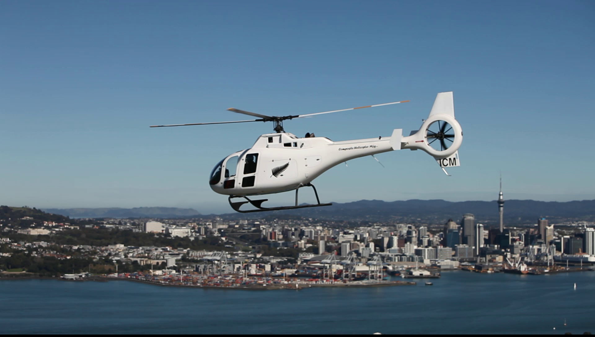 Composite helicopter made in New Zealand